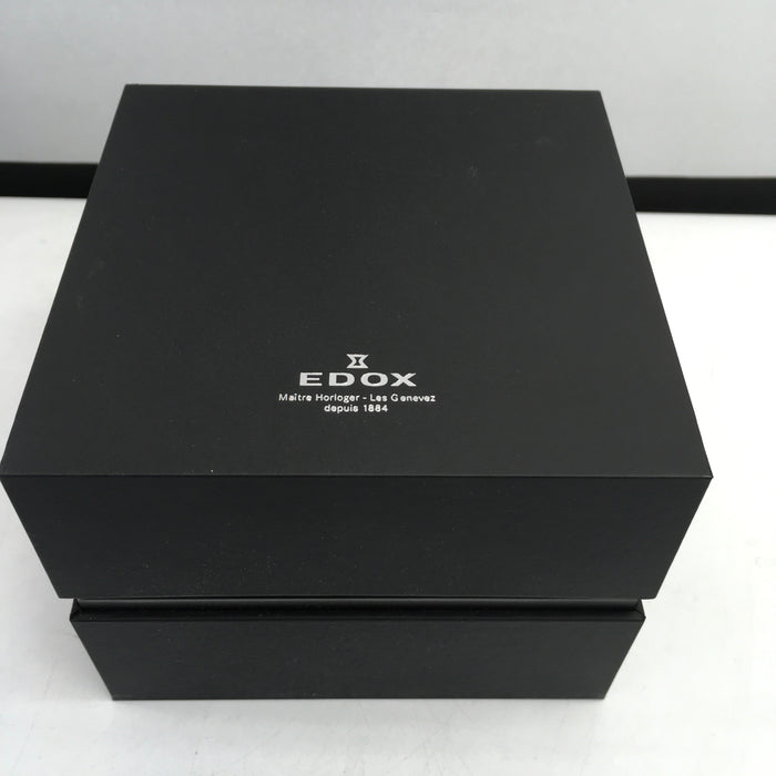 EDOX Chronorally Chronograph Black Dial Men's Watch