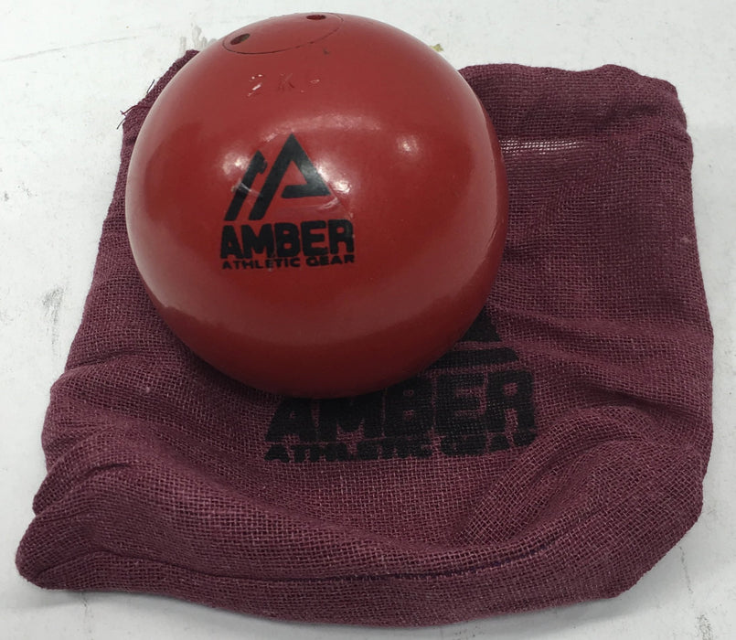 Amber Sporting Goods Economy Turned Iron Shot Put [Red, 2kg] *PUP*