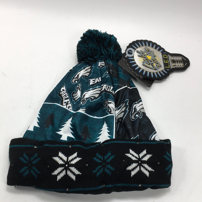 Forever Collectibles NFL Adult's Philadelphia Eagles Light Up Printed Beanie