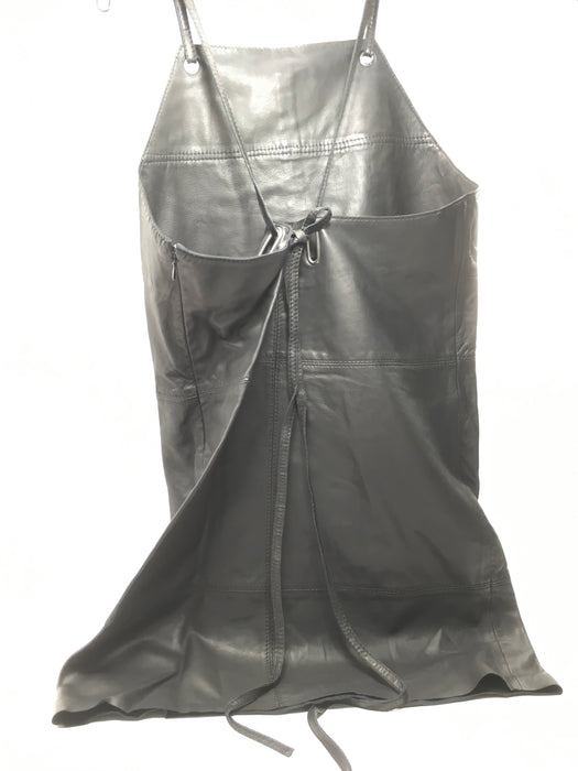 Kenneth Cole New York Leather Apron Dress Size S/Medium