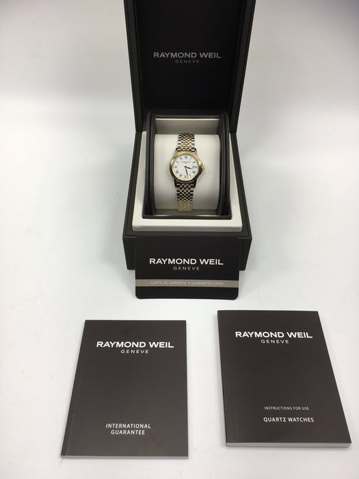 Raymond Weil Tradition White Dial Ladies Two Tone Watch 5966-STP-00300