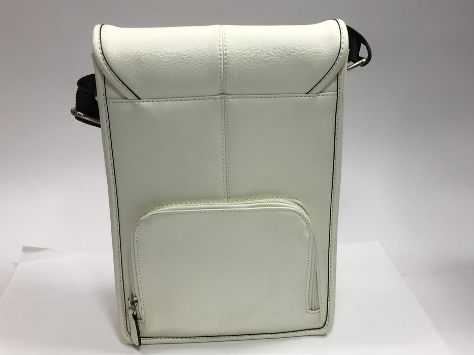 Jill-e Designs 10-Inch Metro Tablet Bag, White with Black Trim