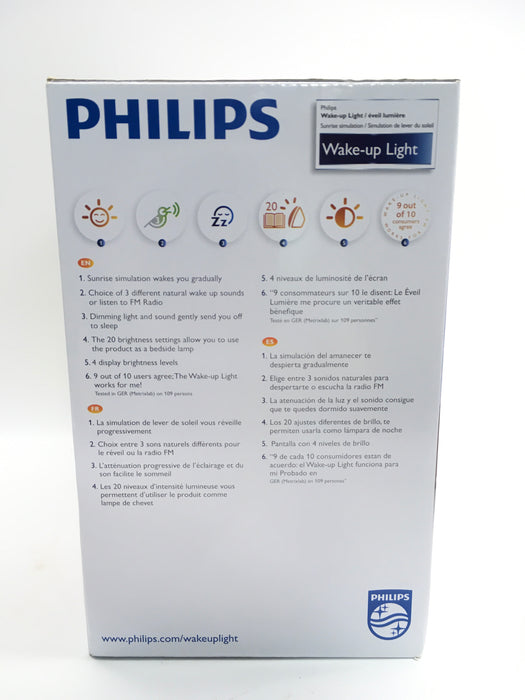 Philips Wake-Up Light Therapy with Sunrise Simulation Alarm Clock and Sunset Fading Night Light, White, HF3510/60