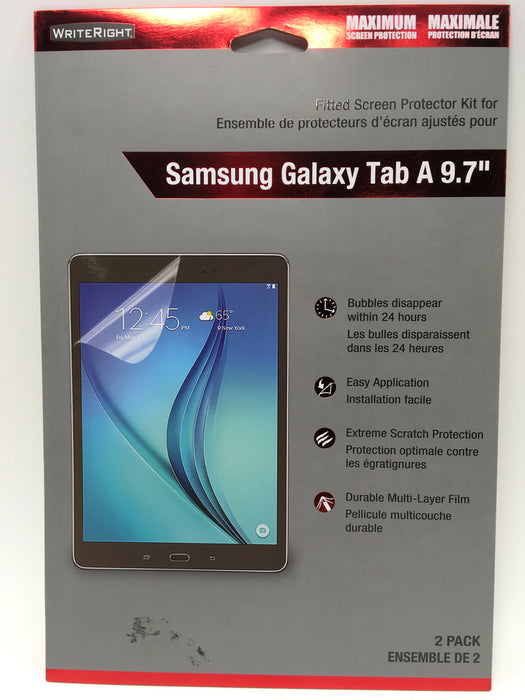 WriteRight Fitted Screen Protector Samsung Galaxy Tab A 9.7""