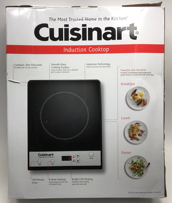 "Cuisinart 14"" Induction Cooktop with 1 Burner"