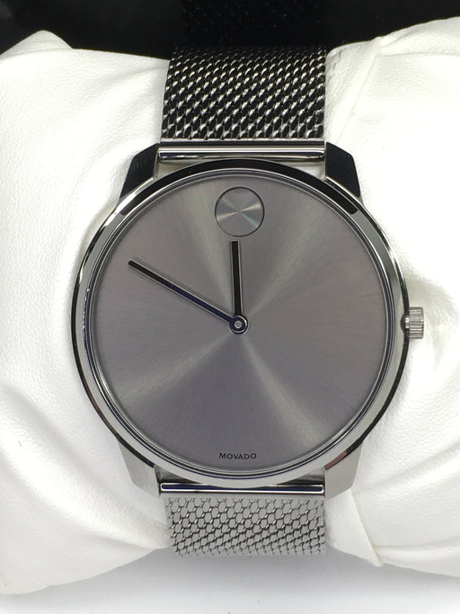 MOVADO BOLD Grey Dial Stainless Steel Mesh Men's Watch