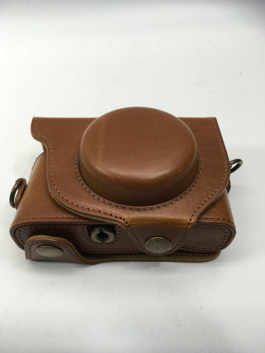 MegaGear Ever Ready Leather Camera Case Compatible with Sony Cyber-Shot DSC-RX100 VI, DSC-RX100 V, DSC-RX100 IV