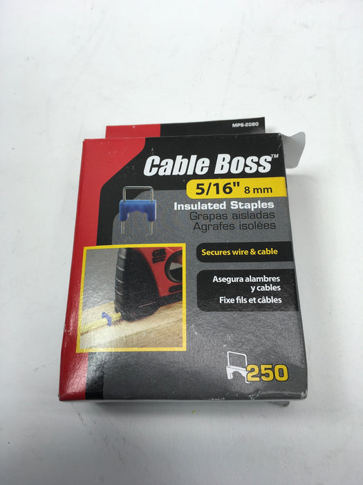 Gardner Bender MPS-2080 Cable Boss 250 Pack 3/16 Inch Blue Cable Staple