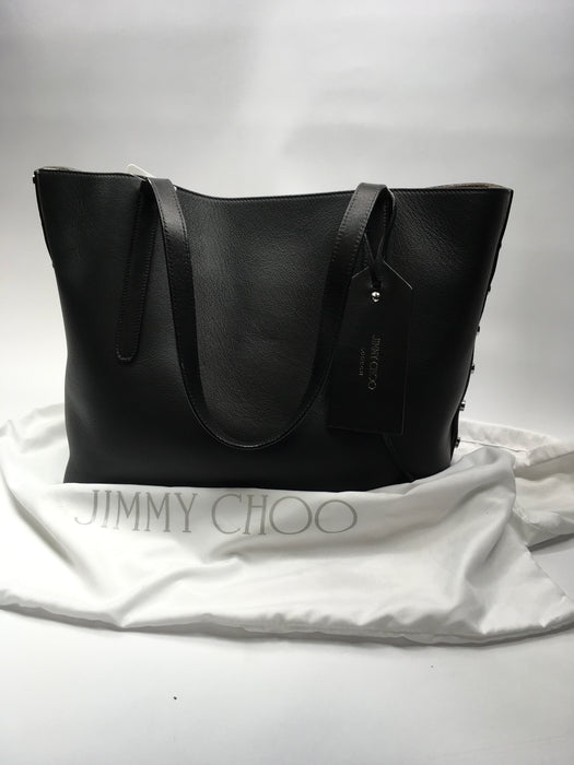 5a18cadc1e Jimmy Choo Twist East West Leather Tote-Black — Big Box Outlet Store