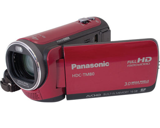 Panasonic HDC-TM80 High Definition Camcorder (Red)  *Light Wear/No Box*