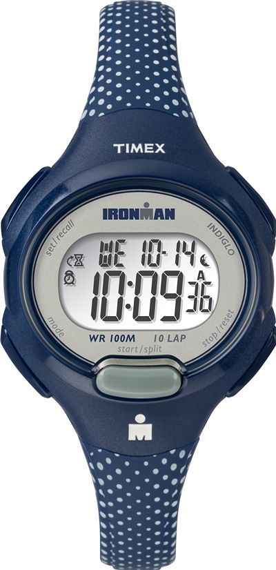 Men's Timex Essential 10 Mid Digital Blue Silicone Band Watch TW5M16700