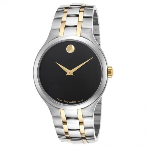 Movado Black Dial Two-tone Mens Watch 0606958 *Micro-blemishes*