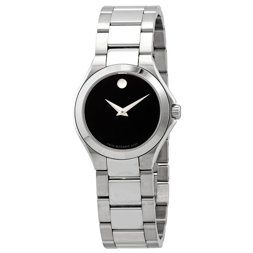 Movado Defio Quartz Black Dial Ladies Watch**no scratches**
