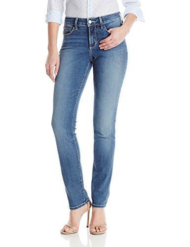 NYDJ womens Samantha Slim Jeans In Stretch Indigo Denim - Heyburn (Size 10)