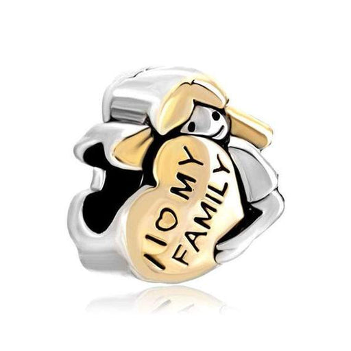 Pugster I Love My Family Heart Baby Girl Charm