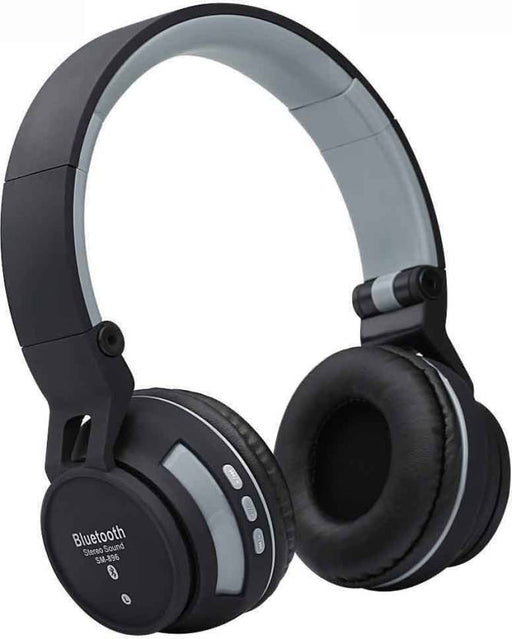 Wireless SY - BT896 Multifunctional Folding Bluetooth Headphones - Black