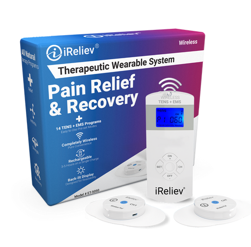 Wireless TENS Unit + EMS | Therapeutic Wearable System by iReliev