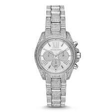 Chronograph Crystal Pave Dial Ladies Watch**Light Scratched on back**