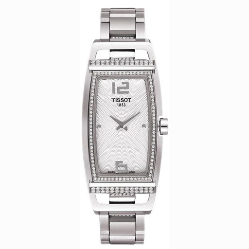 Tissot My T Tonneau Silver Dial Stainless Steel Ladies Watch T0373091103701 *Visible Wear*
