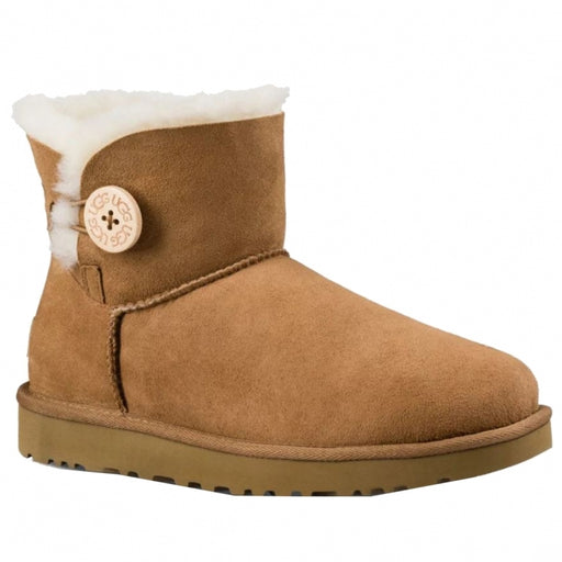 UGG Women's Mini Bailey Button II Winter Boot - Chestnut (US 9)