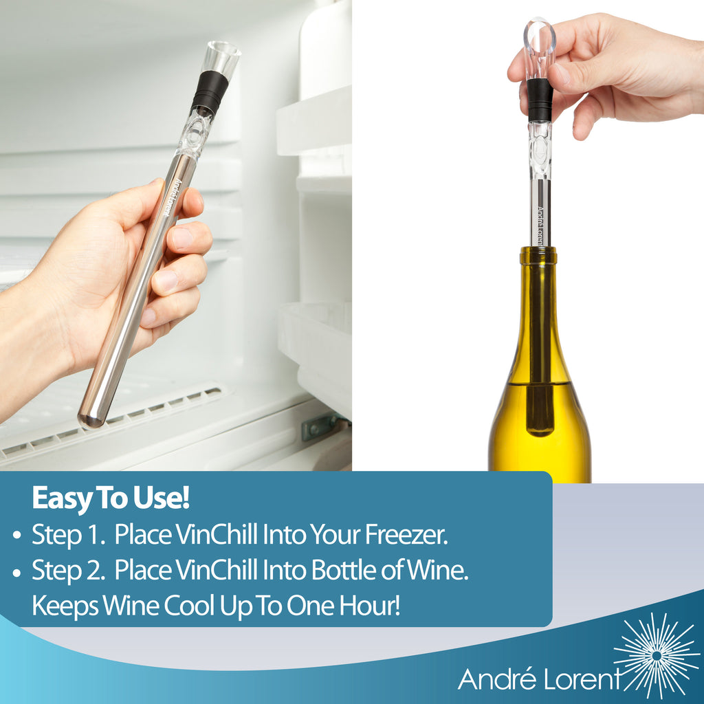 VinChill PRO Wine Chiller - The Fastest, Easiest Way to Keep Wine Perfectly Chilled.