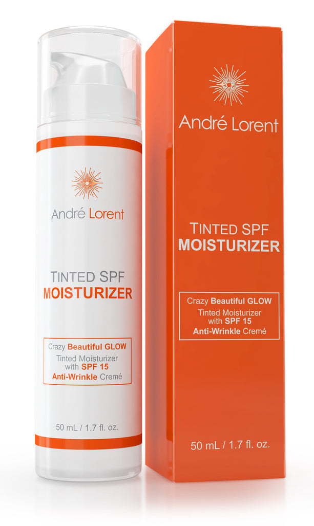 Tinted Moisturizer Cream, SPF 15 - Best for Light, Fair & Sensitive Skin - With Vitamins B, C & E - 100% Natural - Gives Even, Healthy Glow, Tone to Face & Neck Daily - Use Day & Night to Curb Aging