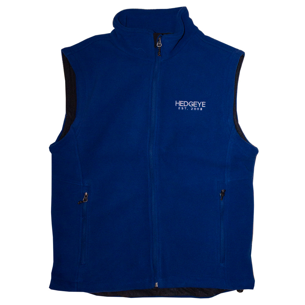 Ladies Fleece Vest (True Royal)