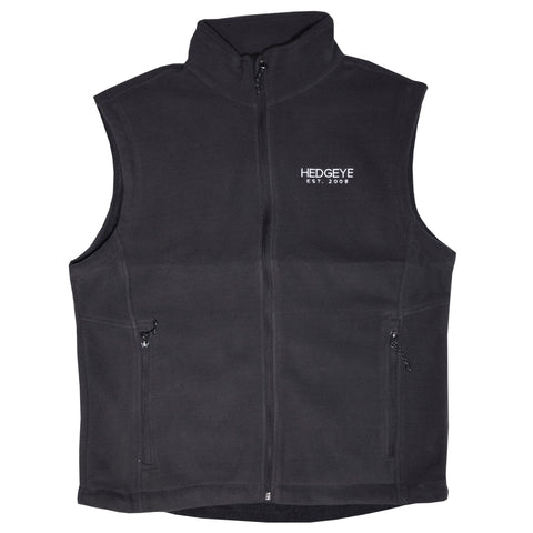 Ladies Fleece Vest (Iron Grey)