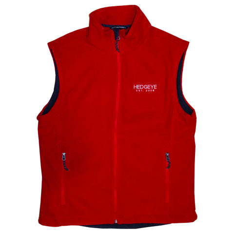 Ladies Fleece Vest (True Red)