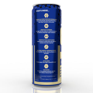 Load image into Gallery viewer, H2forLife Mental Clarity Hydrogen Water With H2+Gold+Platinum, Case of (12) 12 oz. Cans