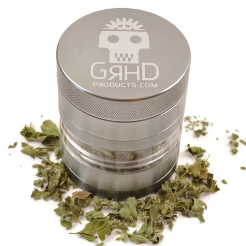 GRHD 2-in-1 Compact or Large 5 Piece Herb Grinder