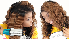 mrsrutters 16 inch closure and 3 16 inch bundles wave artist hot tool