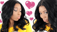 lace closure sew in hair styling tutorial
