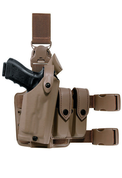 SAFARILAND Model 6005 SLS Tactical Holster with Quick-Release Leg Strap, COYOTE BROWN, RH- 6005-73-761