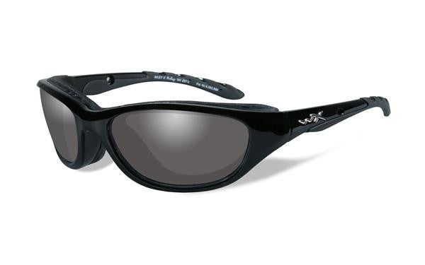 WILEY X 696 AIRRAGE TACTICAL SUNGLASSES LIGHT ADJUSTING GREY LENS/GLOSS BLACK FRAME