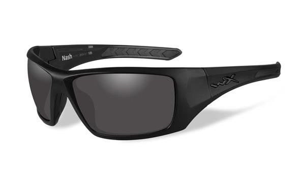 WILEY X ACNAS08 NASH TACTICAL SUNGLASSES GREY LENS / MATTE BLACK FRAME