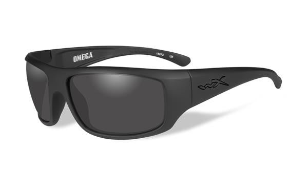 WILEY X ACOME01 OMEGA TACTICAL SUNGLASSES SMOKE GREY LENS/ BLACK MATTE FRAME