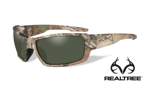 WILEY X ACREB07 REBEL TACTICAL SUNGLASSES POLARIZED GREEN LENS/REALTREE XTRA CAMO FRAME