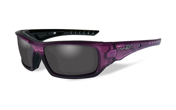 WILEY X CCARR02 ARROW TACTICAL SUNGLASSES GREY LENS/CRYSTAL PLUM FRAME
