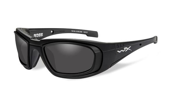 WILEY X CCBOS03D BOSS TACTICAL SUNGLASSES SMOKE GREY LENS/MATTE BLACK FRAME