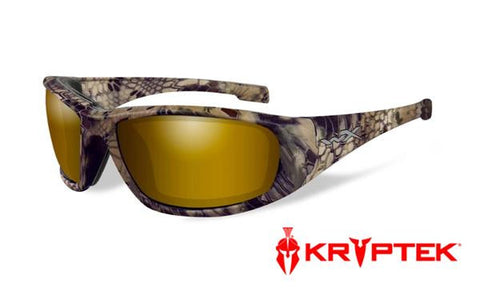 WILEY X CCBOS12 BOSS POLARIZED VENICE GOLD MIRROR / KRYPTEK HIGHLANDER FRAME