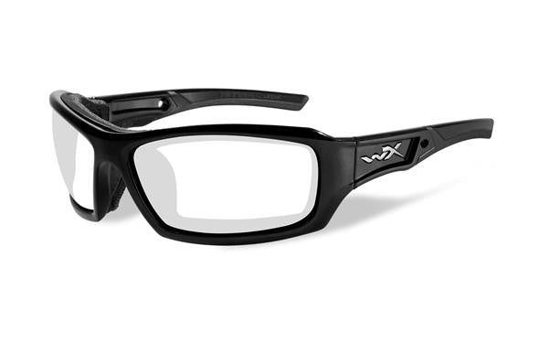 WILEY X CCECH03 ECHO TACTICAL GLASSES, CLEAR LENS, GLOSS BLACK FRAME
