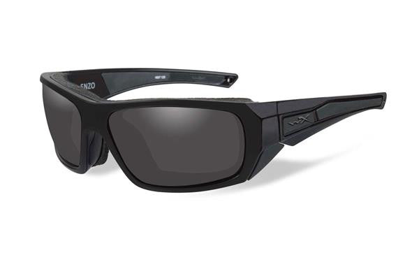 WILEY X CCENZ01 ENZO TACTICAL SUNGLASSES BLACK OPS SMOKE GREY LENS MATTE BLACK FRAMES
