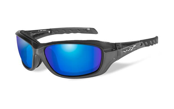 WILEY X CCGRA04 GRAVITY TACTICAL SUNGLASSES POLARIZED BLUE MIRROR FRAME/BLACK CRYSTAL FRAME