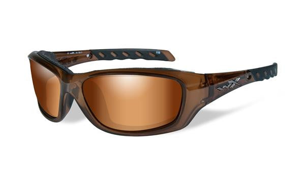 WILEY X CCGRA06 GRAVITY TACTICAL SUNGLASSES BRONZE FLASH LENS/ BROWN CRYSTAL FRAME