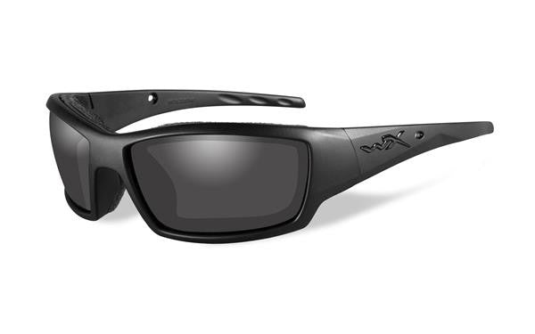 WILEY X CCTID01 TIDE TACTICAL SUNGLASSES BLACK OPS MATTE BLACK FRAME, SMOKE GREY LENS
