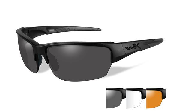 WILEY X CHSAI06 SAINT TACTICAL SUNGLASSES GREY, CLEAR, RUST LENS/MATTE BLACK FRAME