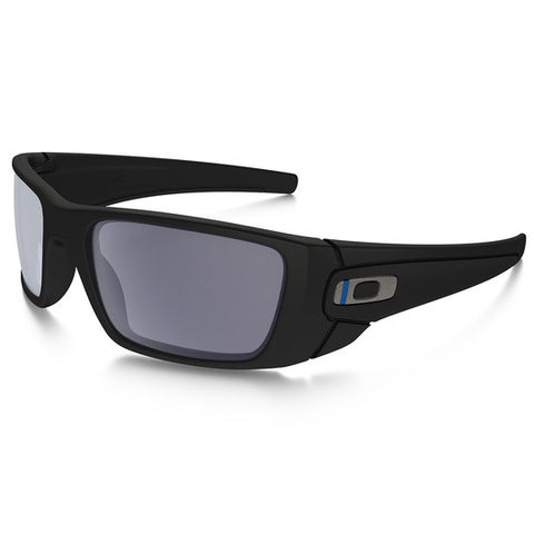 OAKLEY OO9096-G5 FUEL CELL THIN BLUE LINE STANDARD ISSUE TACTICAL SUNGLASSES BLUE/BLACK FRAMES/GREY LENS