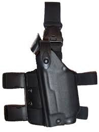 SAFARILAND 6005 SLS Tactical Holster w/ Quick Release Leg Harness - Tactical Black, Right Hand 6005-7321-121