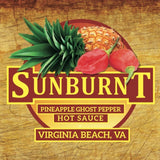 SUNBURNT PINEAPPLE GHOST PEPPER HOT SAUCE - CASE (12 BOTTLES)